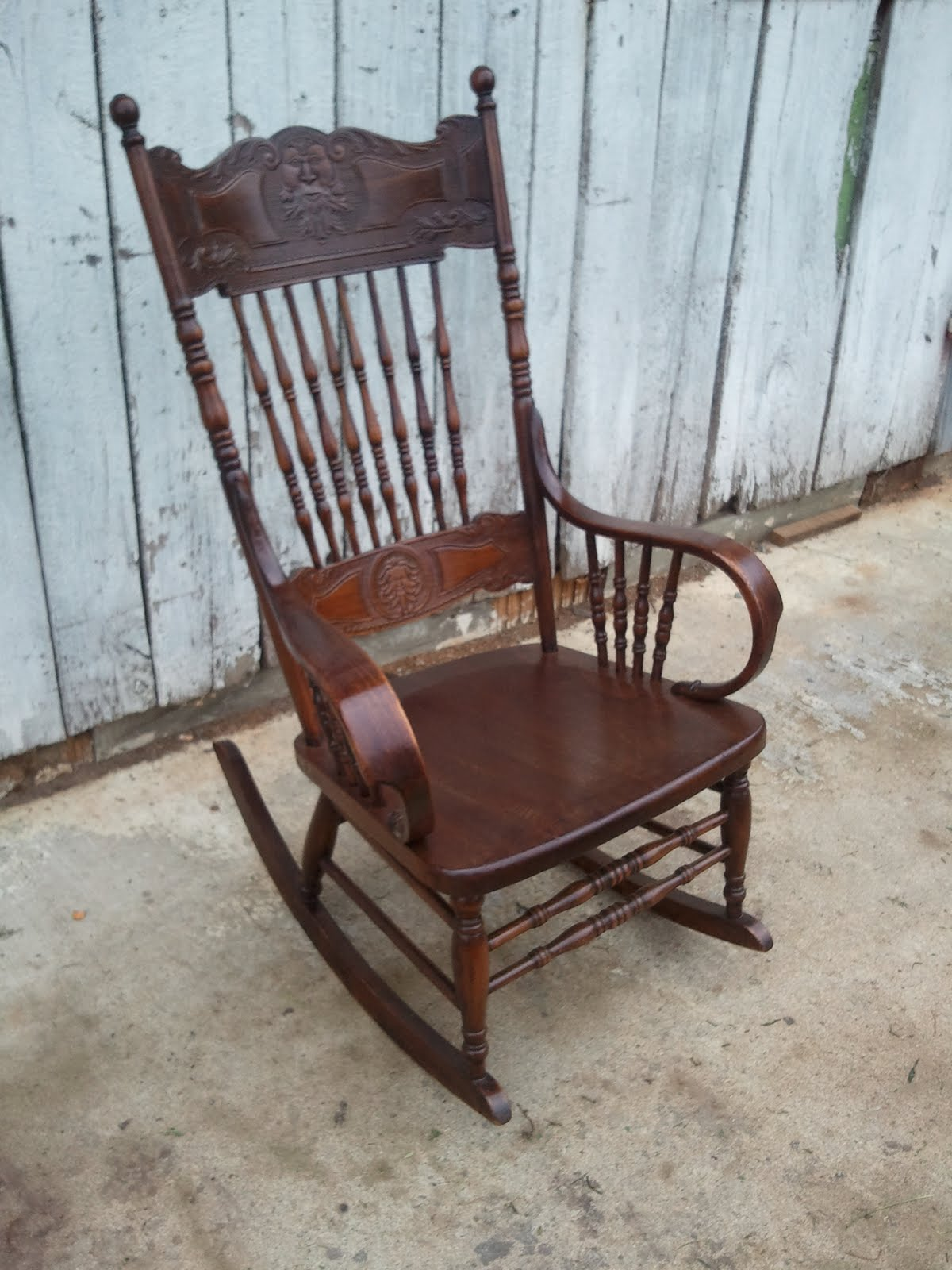 Press Back Chair Reupholster Dining Room Seat John Mark Power Antiques Conservator Pressed