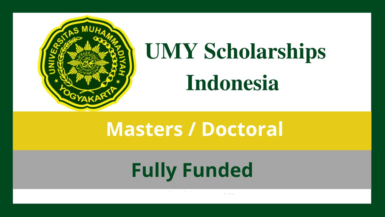 منح UMY  إندونيسيا لسنة 2022 ممولة بالكامل في عدة تخصصات ودرجات