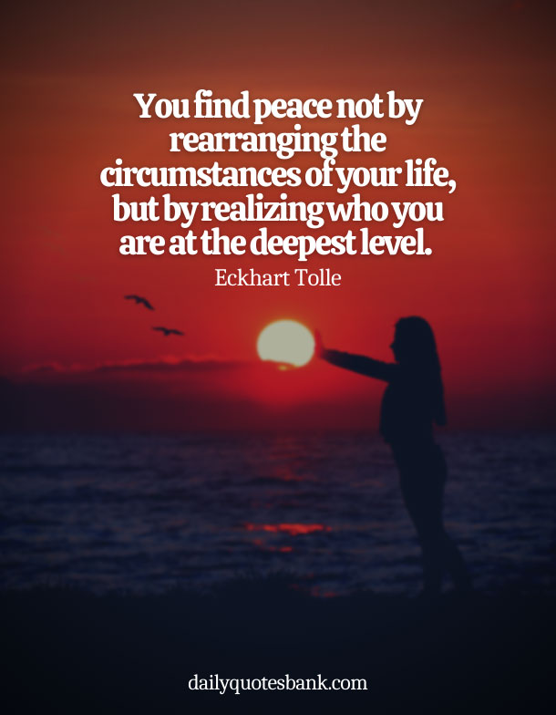 Spiritual Quotes About Being At Peace