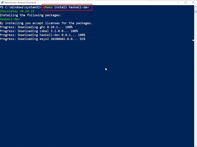 How to install Haskell on Windows 10