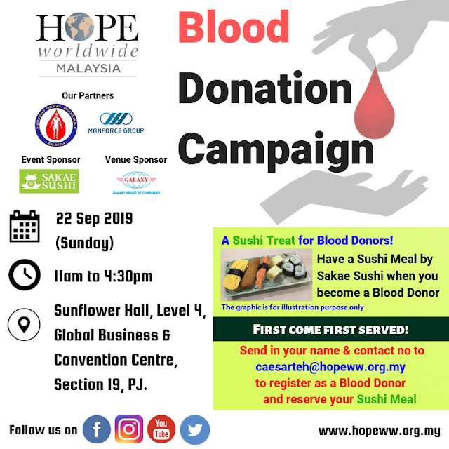 HOPE worldwide Malaysia Blood Donation Campaign