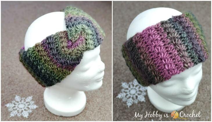 Double layered star stitch headband