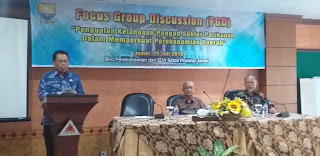 Asisten II Bidang Perekonomian Dan Pembangunan Membuka FGD Penguatan Ketahanan Pangan Dalam Sektor Perikanan Memperkuat Perekonomian Daerah Jambi