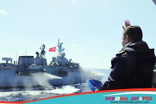 KRI SHN pimpin  latihan di laut Mediterania
