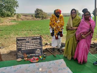 निस्तारित तालाब का भूमि पूजन विधायक नीना वर्मा द्वारा किया गया