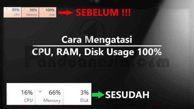 Cara Mengatasi CPU 100%