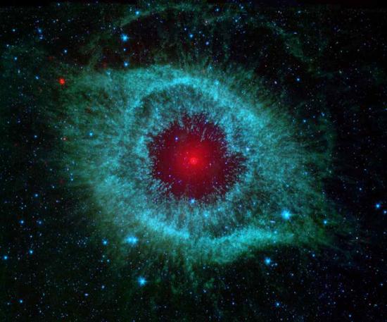 Helix Nebula, lubang hitam