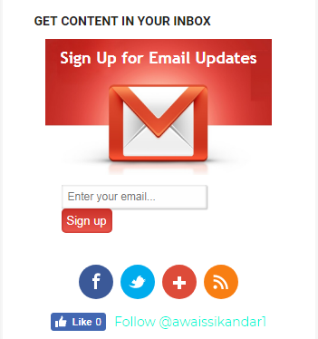 how to add email subscription widget to blogger