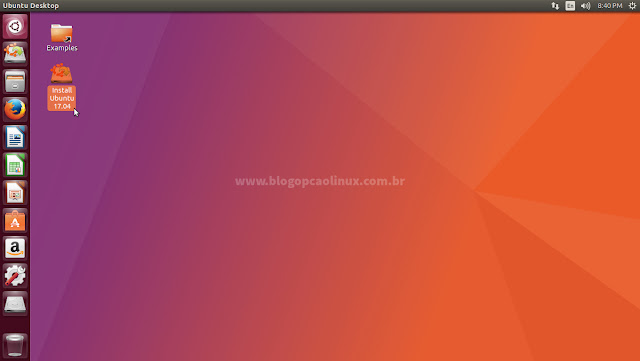 """Dê dois cliques em """"Install Ubuntu 17.04"""""""