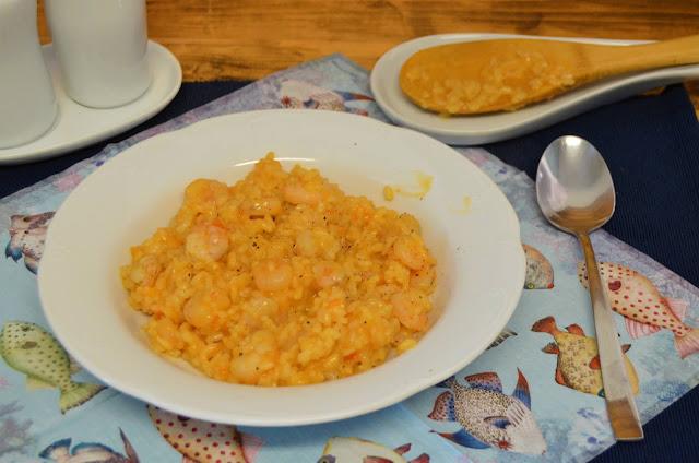 las delicias de Mayte, risotto, risotto de gambas, risotto de gambas italiano, risotto de gambas receta, risotto gambas, risotto mariscos, risotto receta