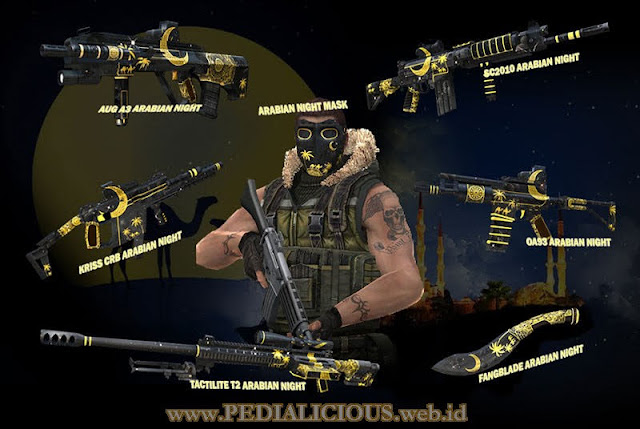 Harga & Statistik Seri Arabian Night Senjata Point Blank