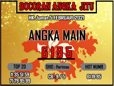 Bocoran HK 2D Jumat 5 Februari 2021
