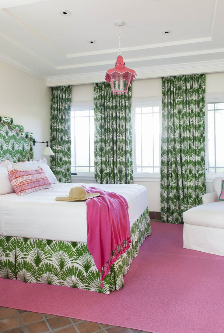Chinoiserie Chic Pink and Green Coastal Chinoiserie