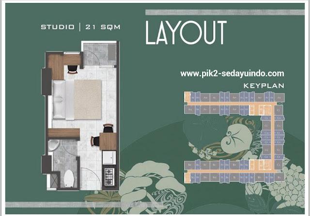 Tokyo Riverside Apartment PIK 2 Studio Type