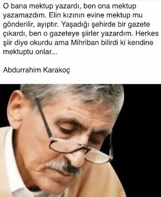 mihriban, mihriban türküsü, mihriban yazarı, mihriban şiiri, Abdurrahim karakoç, şair, yazar, mektup, aşk, büyük aşk, gazete, güzel sözler, özlü sözler, anlamlı sözler,