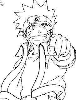 Sketsa Mewarnai Gambar Kartun Naruto 20166