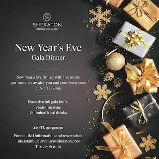 Sheraton Hotel İstanbul Yılbaşı Programı 2020 Menüsü