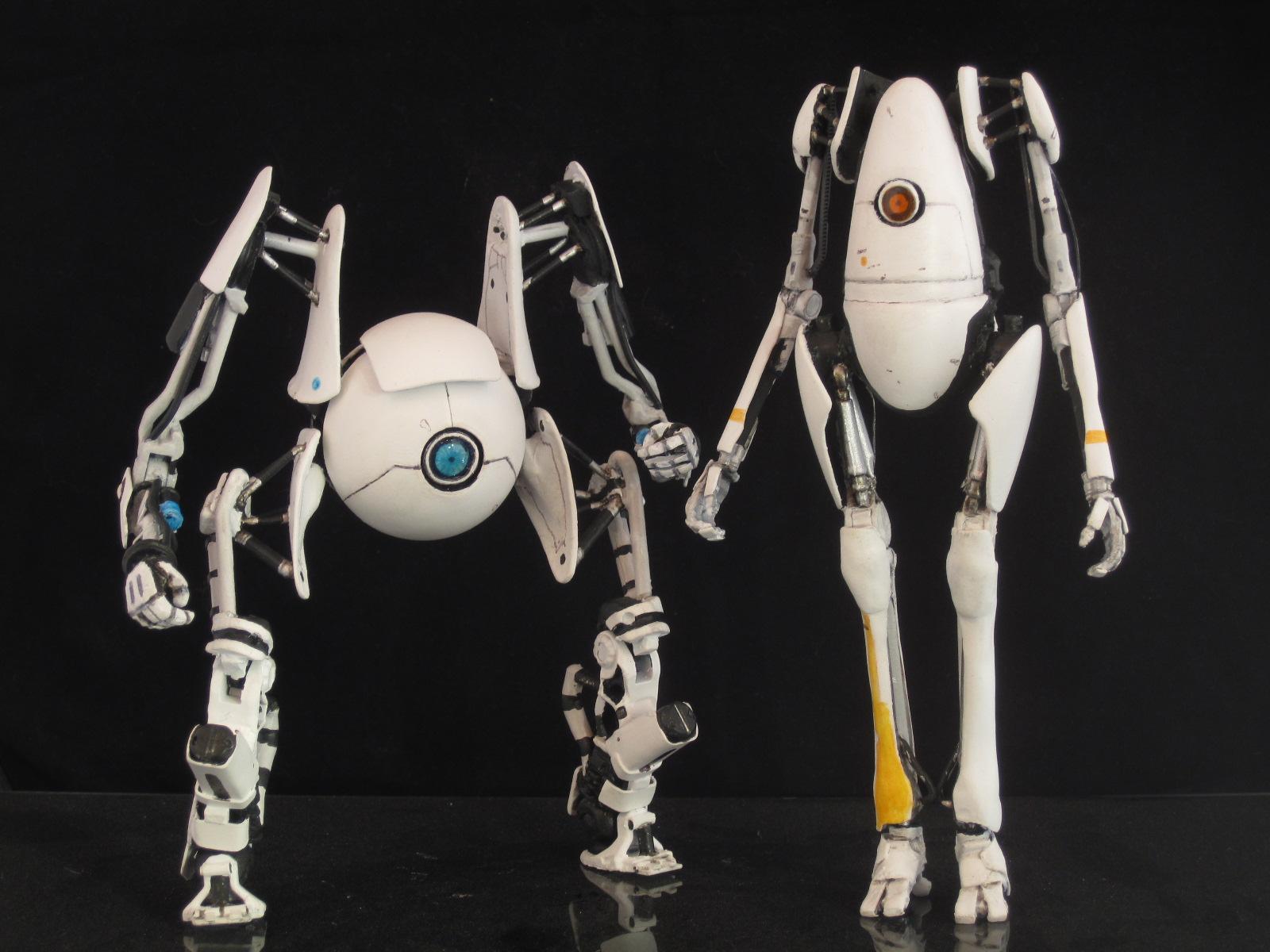 Portal 2 Robots P Body And Atlas Custom Action Figure Toys