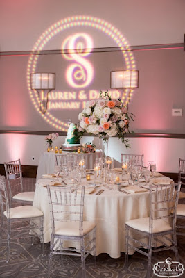 pink wedding reception guest tables