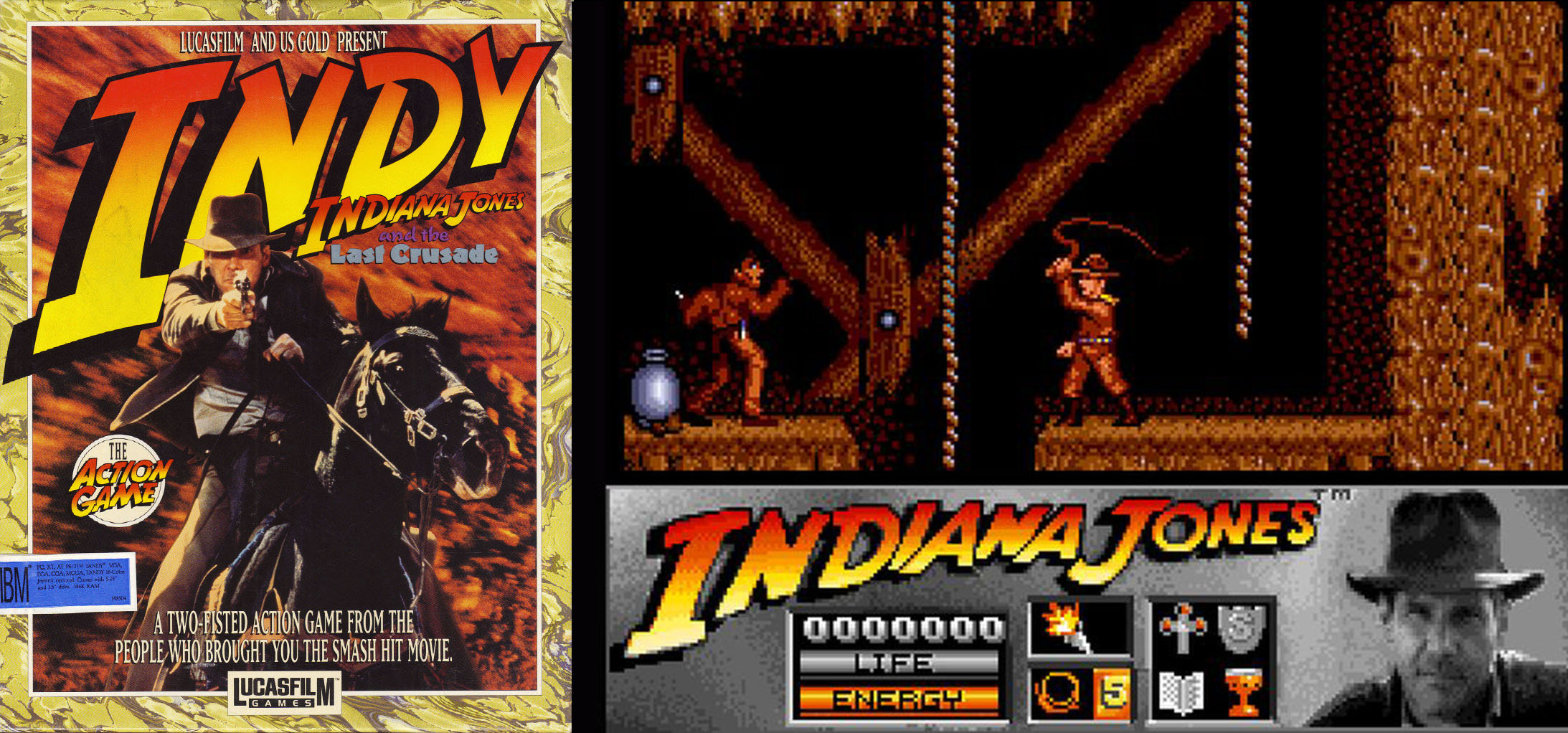Indiana Jones and the Last Crusade The Action Game 1989