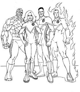 Ausmalbilder Fantastic Four zum Ausdrucken
