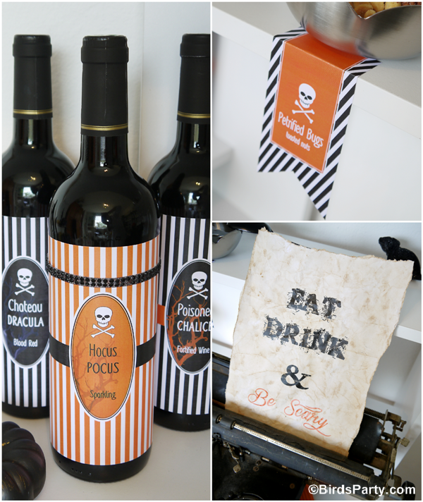 DIY Spooky Halloween Sign & Free Printables - BirdsParty.com