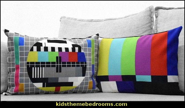 television test pattern pillows  Throw Pillows - decorative pillows - cushion covers - accent pillows - novelty pillows - unique pillows - sequin throw pillows - Cushion Covers -  faux fur pillows - rhinestone  bling pillows - fun pillows - novelty throw pillows - food pillows - dog pillows - cat pillows