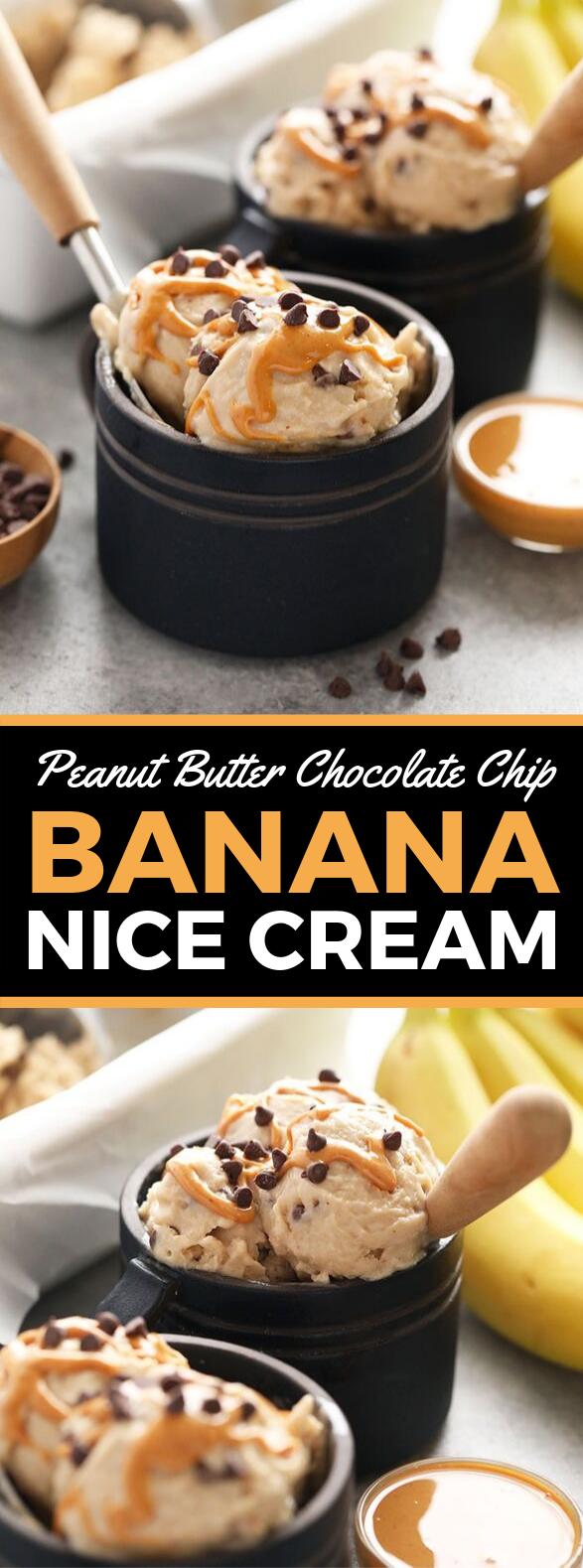 PEANUT BUTTER BANANA NICE CREAM #desserts #dairyfree