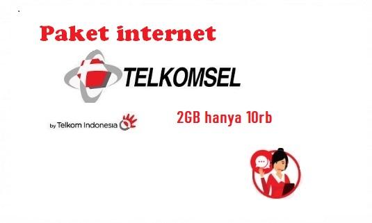 Paket internet Telkomsel  2GB hanya 10rb