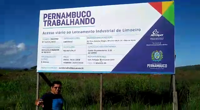 Novinho Vigilante denuncia descaso do Distrito Industrial de Limoeiro