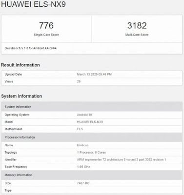 P40 Pro 5G  in Geekbench database