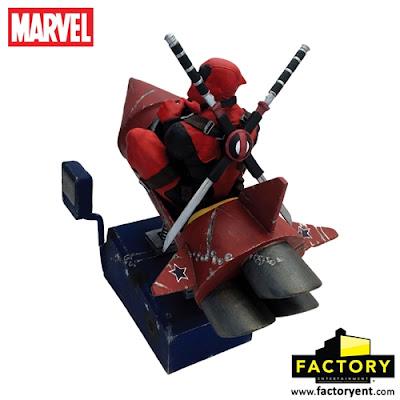 Deadpool Rocket Ride Marvel Premium Motion Statue by Factory Entertainment