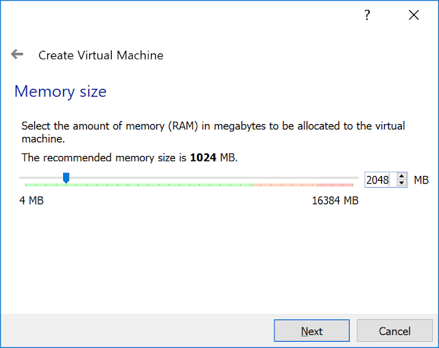 Memory size setup.