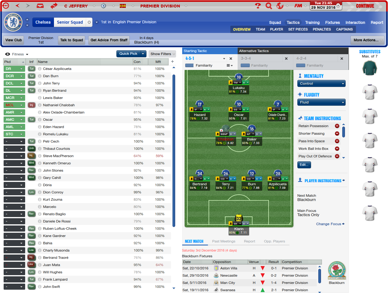 FM Challenge's: My FM14 Chelsea FC tactics