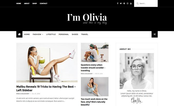 Olivia Best Photography Blogger Template