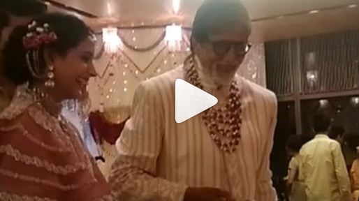 Watch Video: Amitabh Bachchan Serves Food At Isha Ambani's Wedding