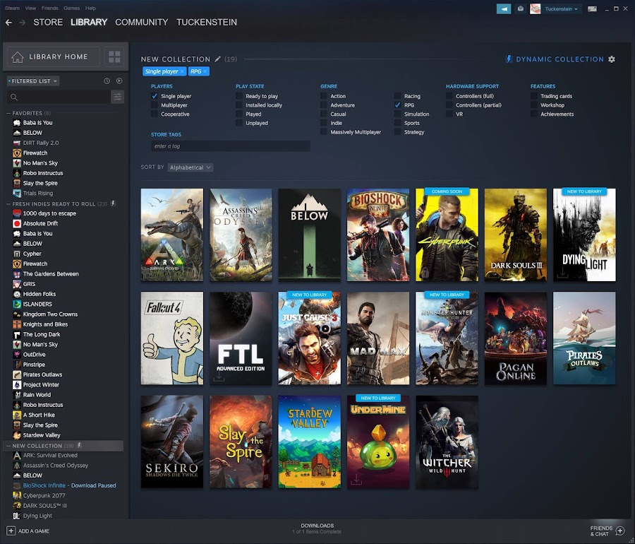 steam library ui redesign event labs update valve pc gaming 2019