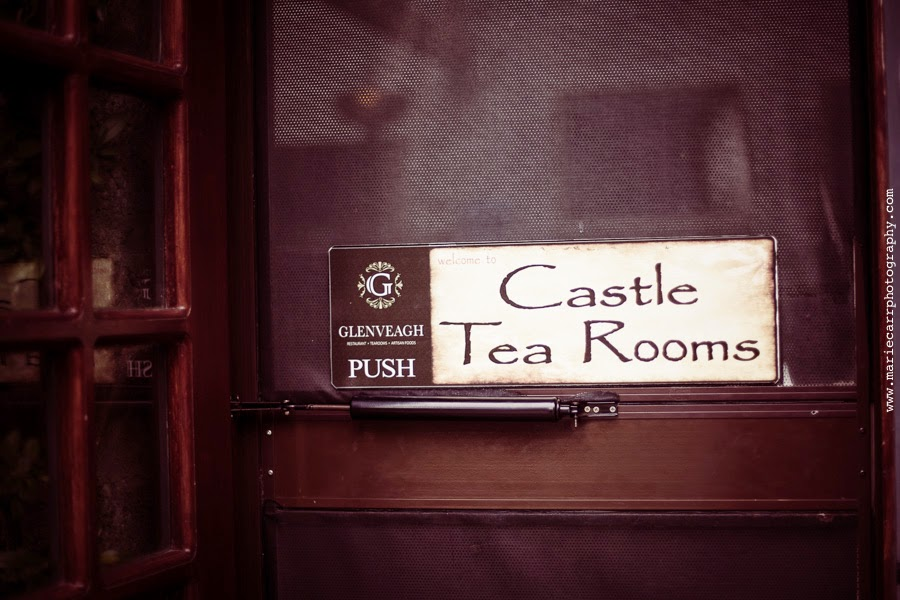 The Castle Tea Room sign