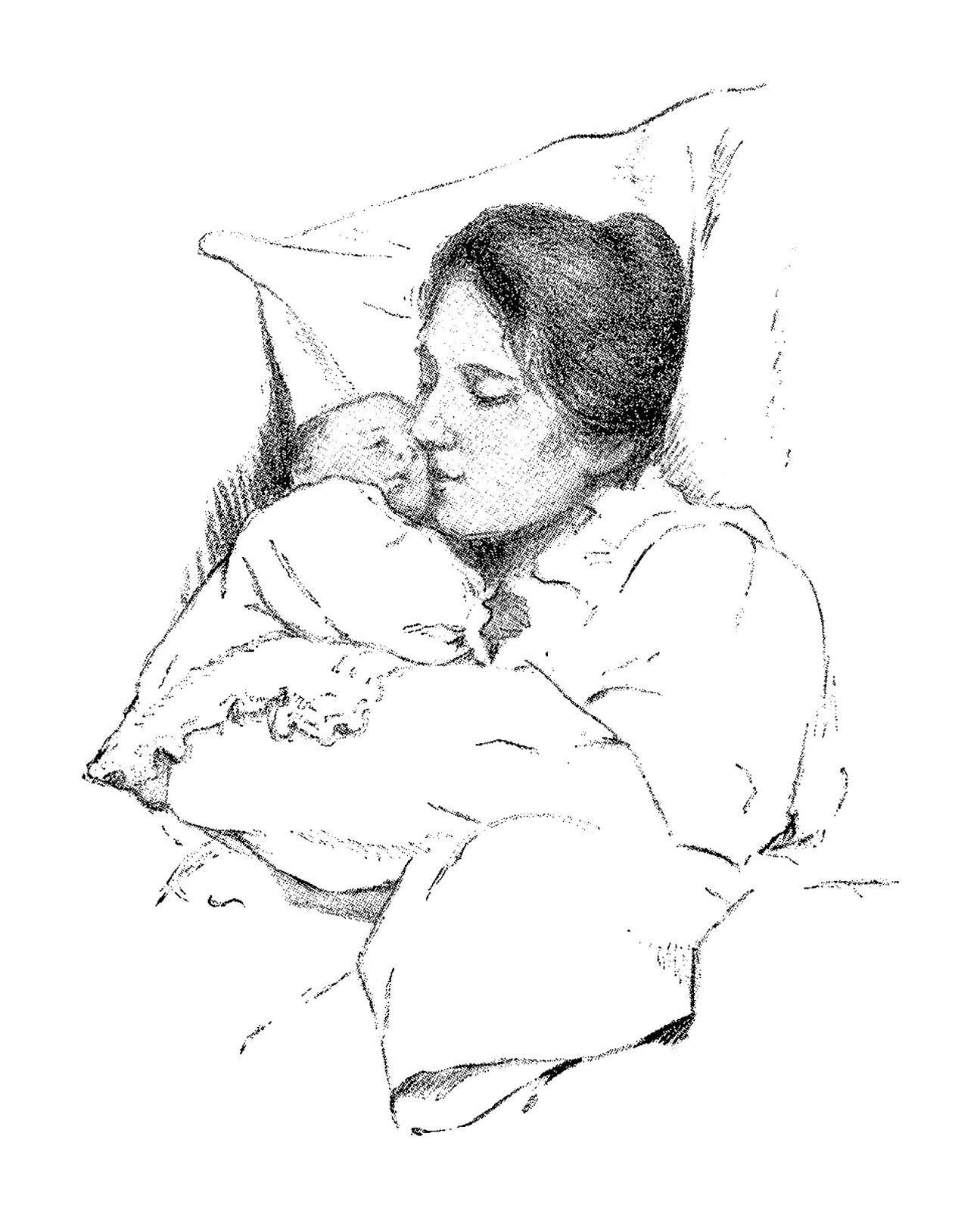 Digital Stamp Design Baby Digital Download Mother Father