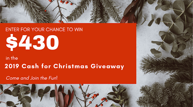 Cash for Christmas Giveaway. Share NOW. #giveaway #cash #Christmas #eclecticredbarn