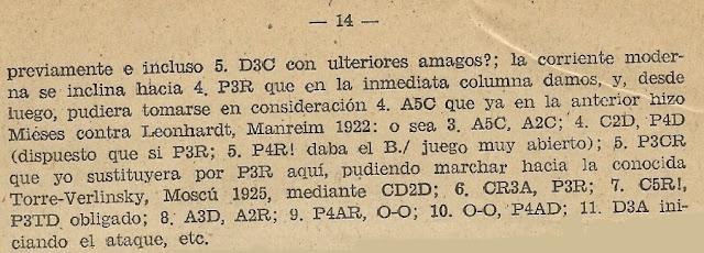 Partida de ajedrez Mieses - Leonhardt, Mannheim 1922