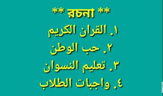 বুলেটিন আলিম পরীক্ষার সাজেশন ২০২০ |  আলিম আরবি ২য় পত্র সাজেশন ২০২০