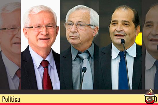 Os vereadores de Maringá Carlos Mariucci, Onivaldo Barris e William Gentil. Café com Jornalista