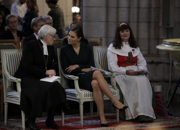 Crown Princess Victoria attended the meeting of Swedish Church Committee 2017 (Kyrkomötet 2017) at Uppsala Cathedral