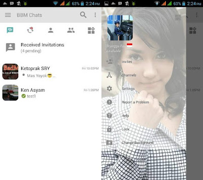 BBM MOD Light Change Background New Version