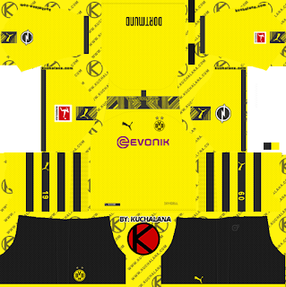 cb9d34224bb Borussia Dortmund 2019/2020 Kit - Dream League Soccer Kits - Kuchalana