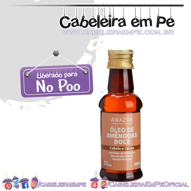 Óleo De Amêndoas Doce - Anazoe (No Poo)