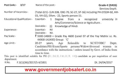 DSSSB DASS Grade 2 vacancy - Education, Qualification, Pay Scale, Age limit, etc.