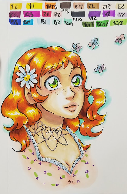 marker illustration, example marker illustration, marker art, alcohol marker art, alcohol marker, Blick Illustrator markers