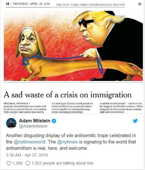 Israeli Cartoonist Hits Back With Powerful Cartoon After Ny Times